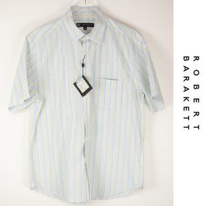 Robert Barakett Short Sleeve Button Down Shirt Lg
